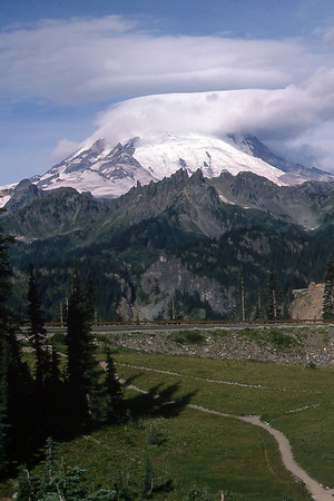 Lenticular clouds over Mt. Rainier